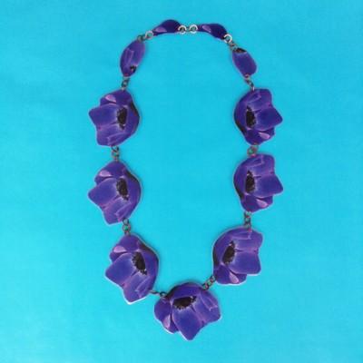 necklace lam flower purple 1 72