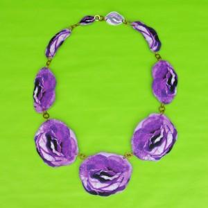 necklace lam flower purple 72
