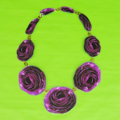 necklace lam flower purple dark 72