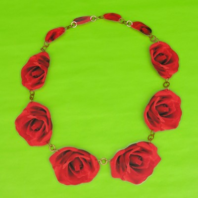 necklace lam flower redrose 72