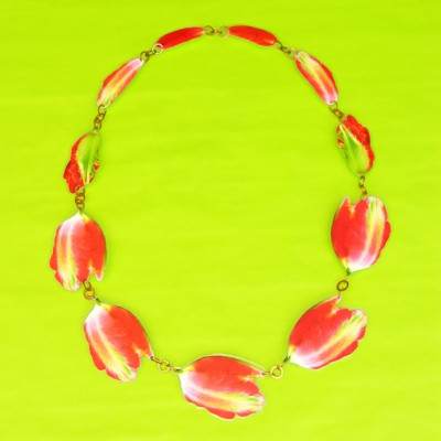necklace lam tulip redstripe  72