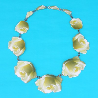 necklace lam white rose  72