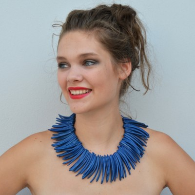 necklace pieces blue OK 72