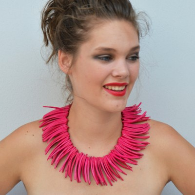necklace pieces pink OK 72