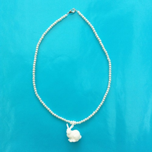 necklace rabbit white one 72