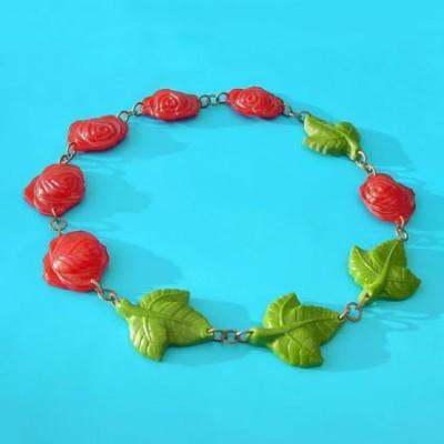 necklace rose leaf kopie 2