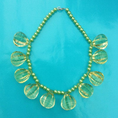 necklace shine ball green large 72