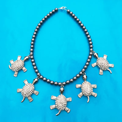 necklace shine bling turtle 72