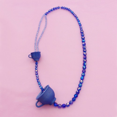 necklace tea for two purple OK 72