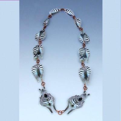 necklace zebra lam 72