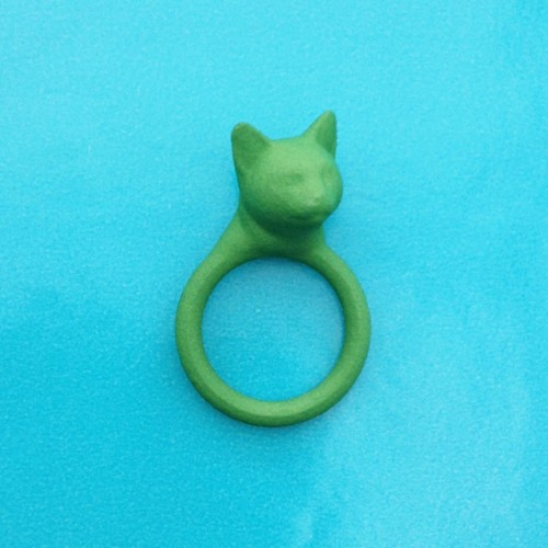 ring cat head green 72