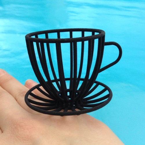 ring cup and saucer black large 1 72