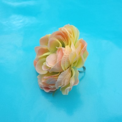 ring flower pink silk 72