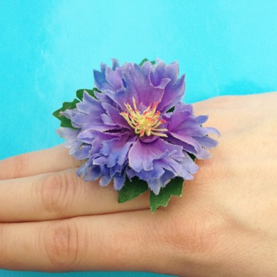 ring flower purple 72