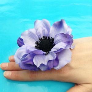 ring flower purple large 72