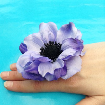 ring flower purple large 72