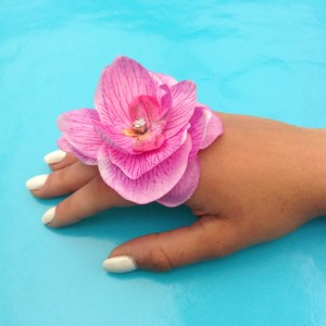 ring flower silk orchid arm 72