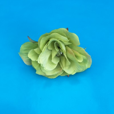ring flower silk rose green 72