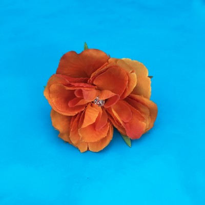 ring flower silk rose orange 72