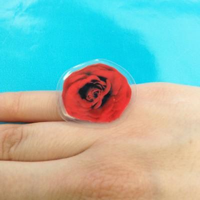 ring lam flower rose red finger  72