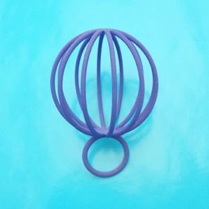 ring pearlball purple 72