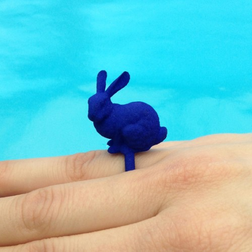 ring rabbit blue finger 72