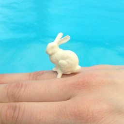 ring rabbit white finger 72