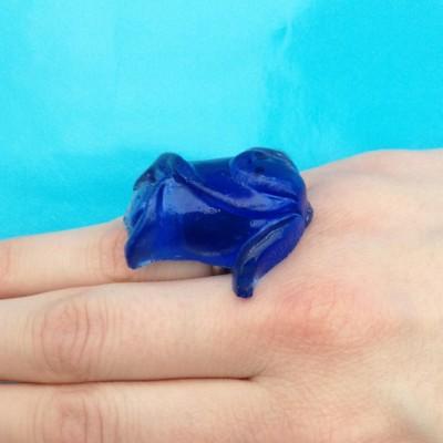 ring resin blue finger  72