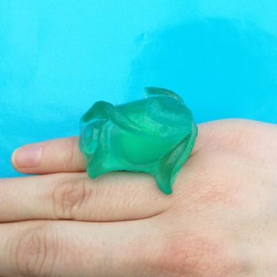 ring resin green finger 72