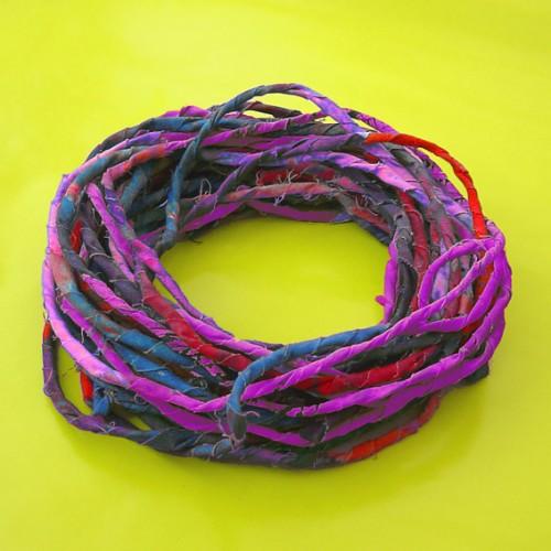 textiel hals gedraaid paars 72