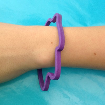 bracelet clouds purple 1 arm 72