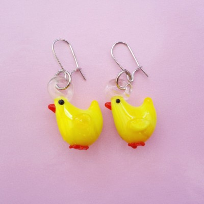 earring glass chicken 72