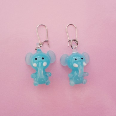 earring glass elephant 72