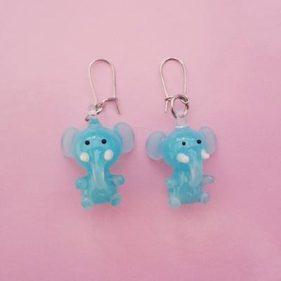 earring glass elephant 72