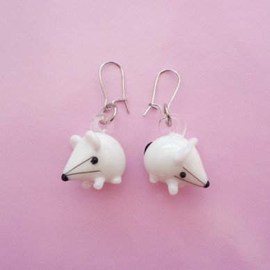 earring glass mouse 72
