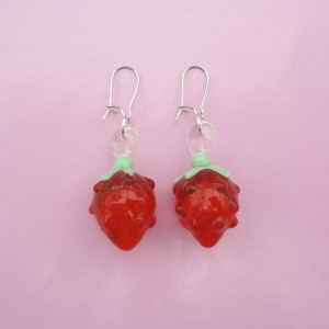 earring glass redberry 72