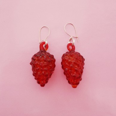 earring glass redfruit 72
