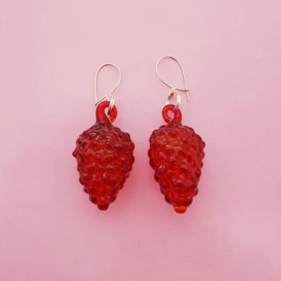 earring glass redfruit 72
