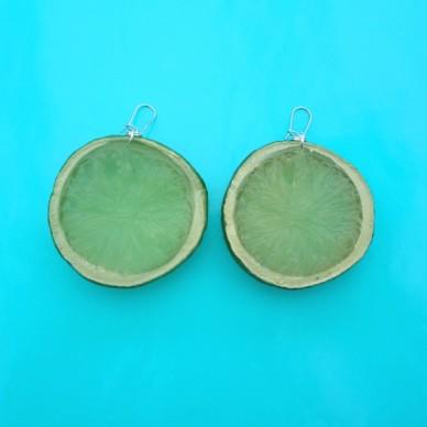 earring lemon part green 72
