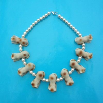 necklace cat creme 72