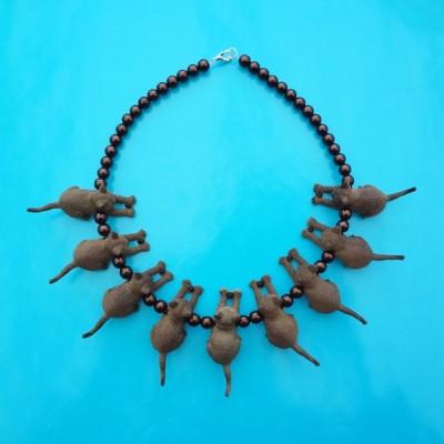 necklace cat darkbrown 72