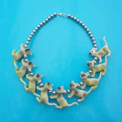 necklace cat yellow 72