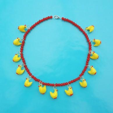 necklace glass chicken 72