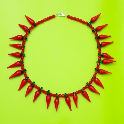 necklace glass redpepper 72