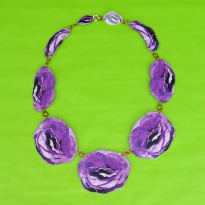 necklace lam flower purple 72