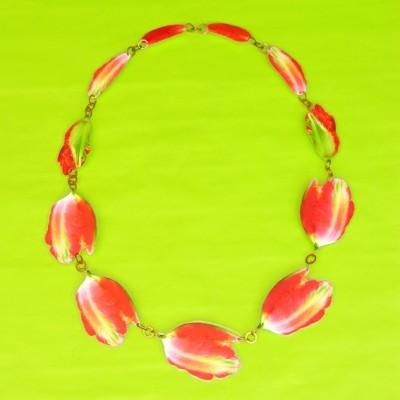 necklace lam tulip redstripe  72