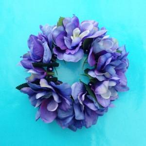bracelet flower silk purple 72