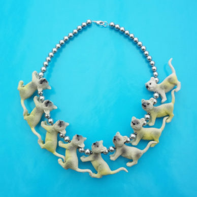 necklace animal cat yellow 72