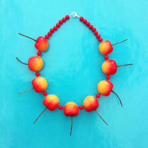 necklace cherry yellow 72