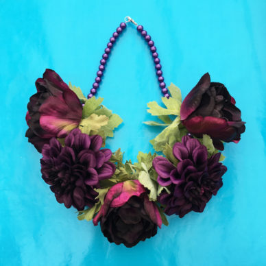 necklace flower silk darkpurple 2 72